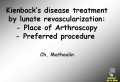 kienbock microsurgery and treatment  [ Dorsal Middle Bone Pain  ]